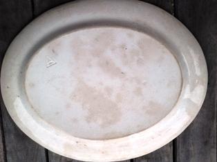 Antique Serving Platter - back view