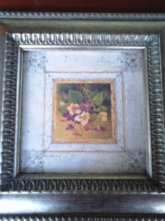 Flower picture in silver frame
